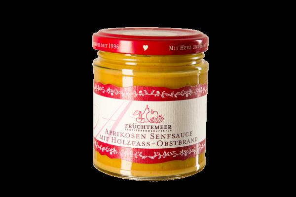 Aprikosensenfsauce mit Holzfass-Obstbrand